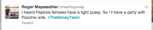 rayweather5 Roger Mayweather Tweets Racist Comments About Manny Pacquiao