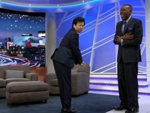 Margaret Cho and Ken Jeong Appear on The Arsenio Hall Show